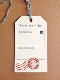 travel escort tag template printable vacation surprise ticket boarding pass