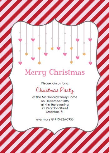 printable christmas invitations sample christmas party invitation wording ideas party
