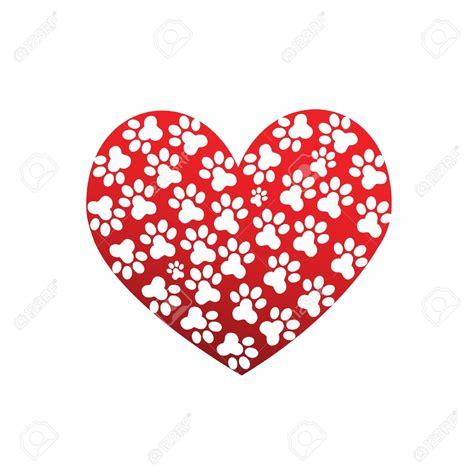 paw print heart clipart  clip art