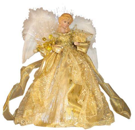 light up angel tree topper gold angel fiber optic light up christmas tree topper ebay