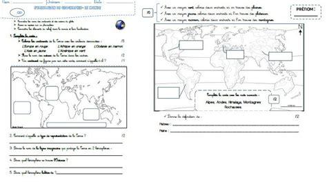 Carte Relief Monde Cycle 3 by Une 233 Valuation En G 233 Ographie Pour La P 233 Riode 1 Les