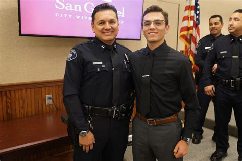 san gabriel police department promotes  officers