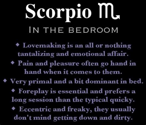 Scorpio And Scorpio In Bed scorpios scorpio facts