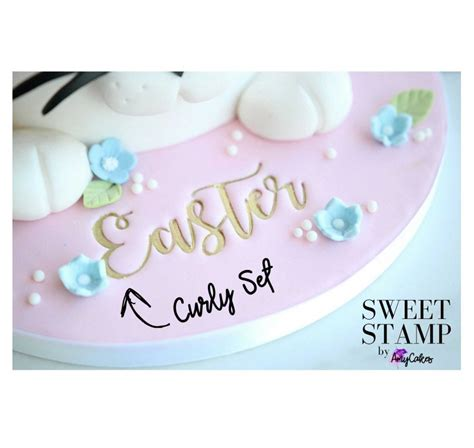 sweet stamp curly font letters numbers lollipop