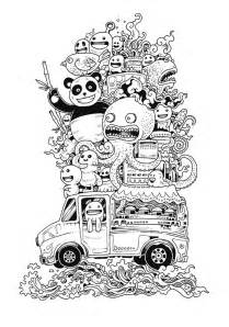 Doodle Invasion – A cute and complex coloring book for