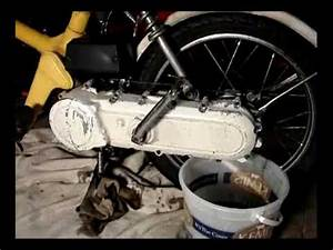 Honda Express moped kick start conversion - YouTube