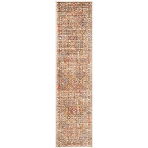 rugs for kitchen floors safavieh sevilla ivory multi 2 ft x 6 ft runner rug 4951