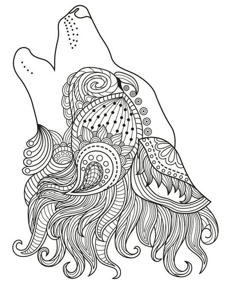 Howling Wolf Coloring Pages For Adults See the category to
