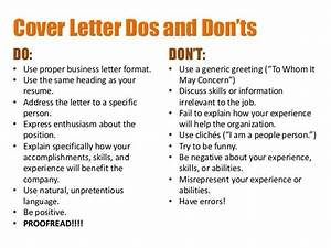 creating resumes and cover letters With dos and don ts of cover letters