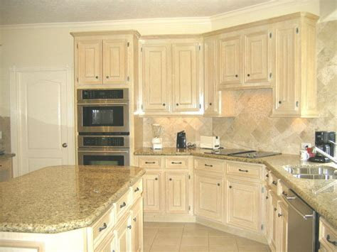 Pickled Oak Cabinets With Granite Tops  Undermount