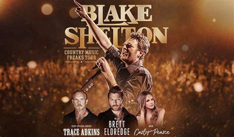 blake shelton songs 2018 blake shelton announces country music freaks 2018 tour