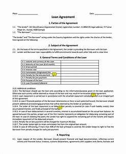 sample business loan agreement 6 free documents With business loan documents