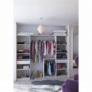 Dressing Leroy Merlin Modulable : dressing spaceo home gris dressing leroy merlin ~ Zukunftsfamilie.com Idées de Décoration