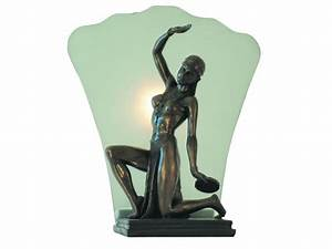 Art deco quotdeslysquot lady lamp art deco pinterest for Art deco lady floor lamp