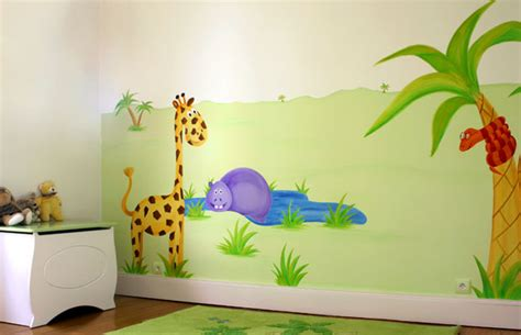 chambre bébé jungle idee deco chambre bebe jungle
