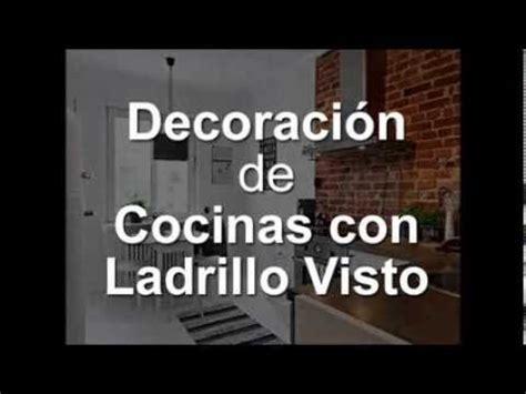 decoracion de cocinas  ladrillo visto youtube