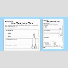 New York, New York Worksheet  Activity Sheet  New York, Facts