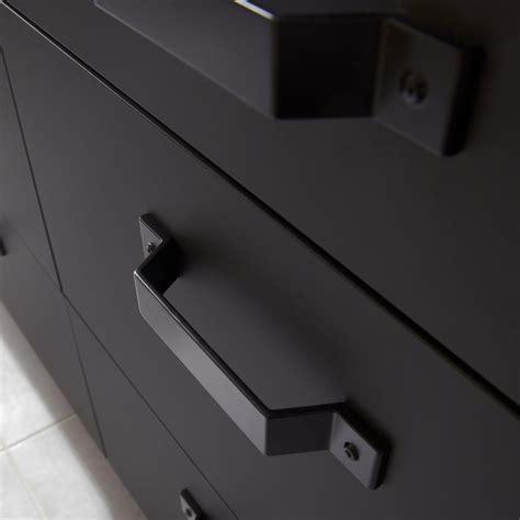 cuisine leroy merlin porte sous évier de cuisine noir fs45 mat edition l45 x