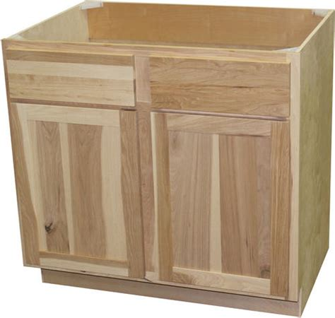 menards unfinished hickory cabinets quality one 36 quot x 34 1 2 quot unfinished hickory sink base