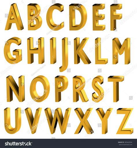 gold alphabet 3d letters stock photography image 29339742 gold 3d font alphabet black stock illustration 75864