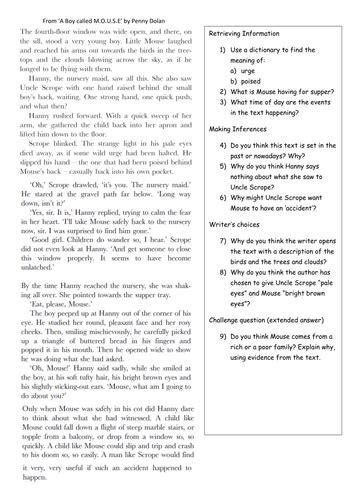 reading comprehension year 5 year 6 ks2 3 activities