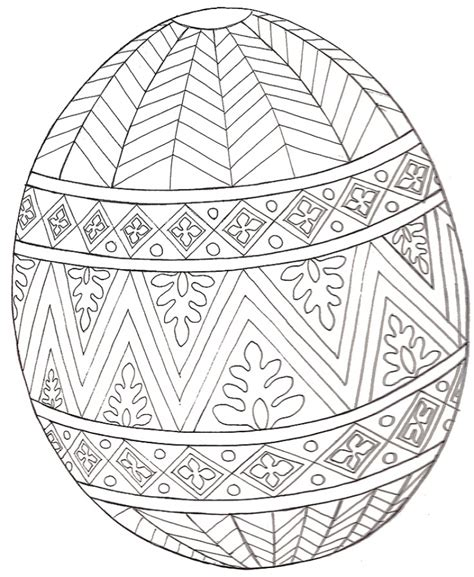 printable easter egg coloring pages  adults