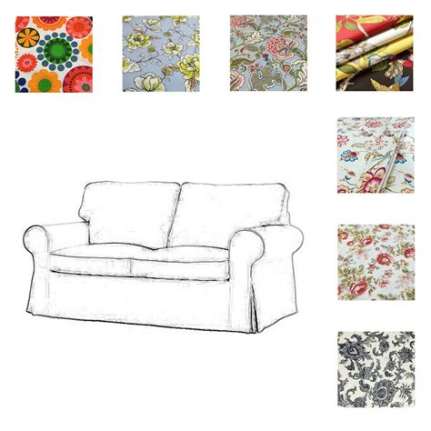 Patterned Loveseat by Custom Made Cover Fits Ikea Ektorp Loveseat Two Seat Sofa
