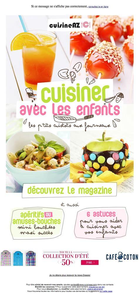 cuisiner avec les enfants galerie de newsletters cuisine az cuisiner avec les