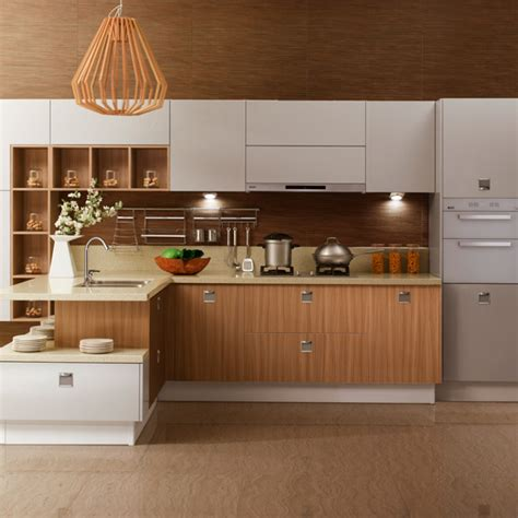 Painting White Solid Wood Kitchen Cabinets With Wood Color