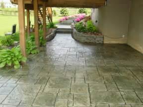 decorative walk out basement design sted concrete patios cole concrete maryland