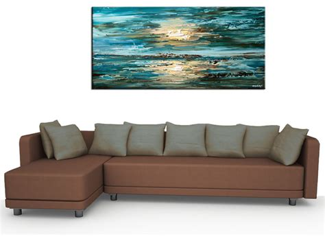 teal pillows contemporary abstract paintings modern living room