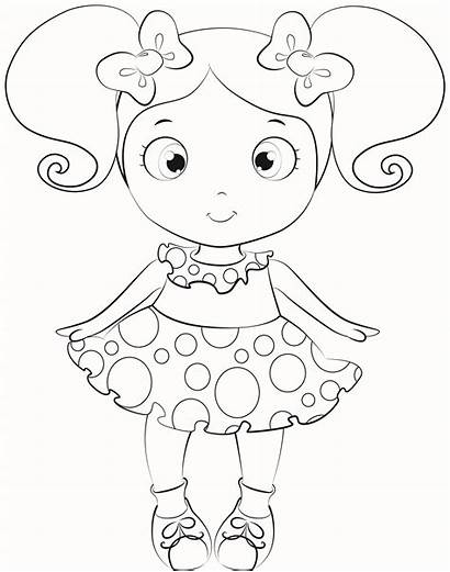 Doll Coloring Pages Dolls Lol Colouring Printable