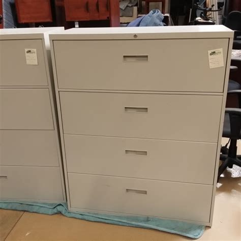 4 drawer file cabinet used used steelcase 4 drawer lateral file cabinet putty