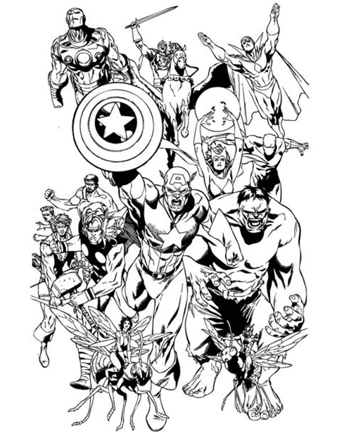 avengers coloring pages marvel superheroes