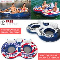 swimline tropical  person lounger pool float cup holders