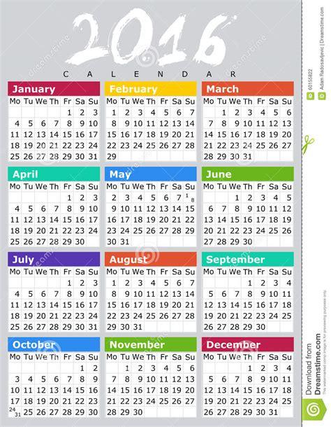 kalendar eng stock illustration image