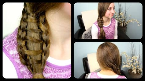 Ladder Braid Side Ponytail