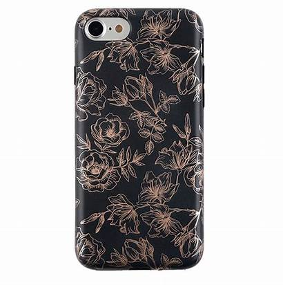 Iphone Rose Floral Cases Phone Gold Chrome