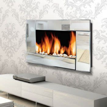 warm house reflections wall mount electric fireplace