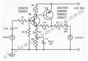 Low Noise Audio Preamplifier Circuit