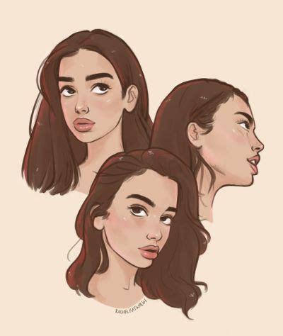 dua lipa artwork | Tumblr | Cartoon drawings, Face drawing ...