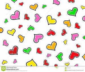 Colorful Hearts Background / Texture Stock Illustration ...
