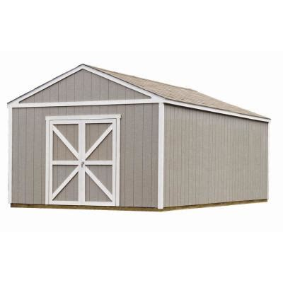 metal shed kits home depot handy home products columbia 12 ft x 24 ft wood storage