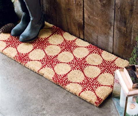 snowflake doormat snowflake door mat all gifts olive cocoa