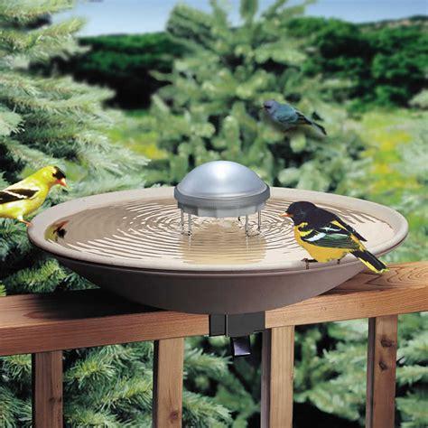 water wiggler bird solar birdbath baths duncraft come