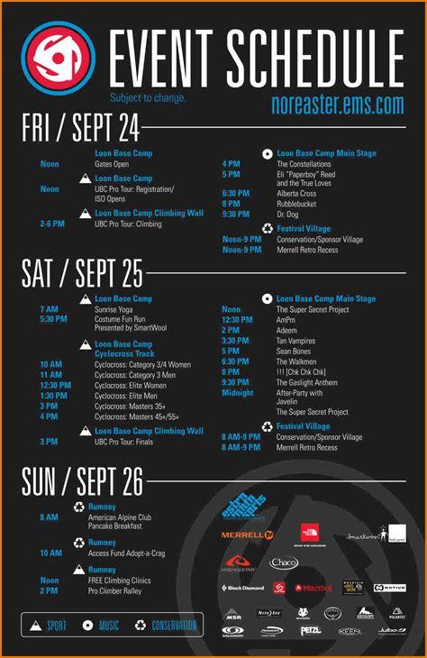 template schedule   printable schedule template