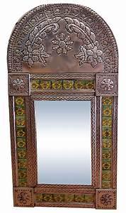 Talavera and Tin Mexican Mirror Mexican Decor