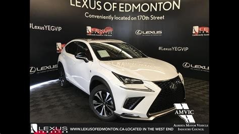 white  lexus nx   sport series  review north