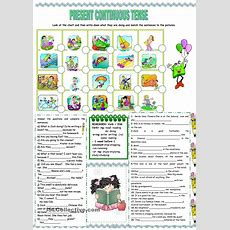 Present Continuous Tense  Worksheet  Kindergarten Level  Learn English For Kids Atividades