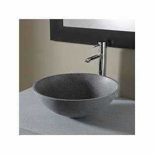 Vasque En Pierre : vasques forme ronde vasques en granit de qualit planete bain ~ Teatrodelosmanantiales.com Idées de Décoration